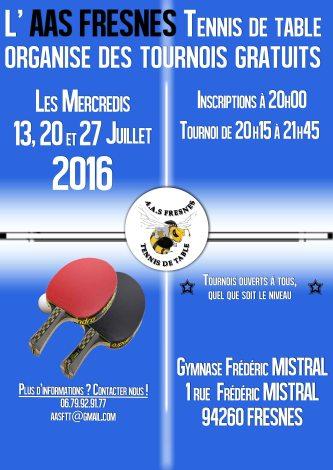 Tournoi d'été Fresnes 2016