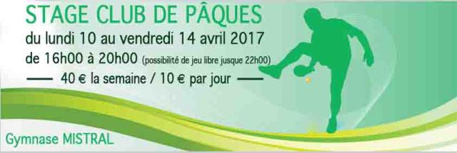 stage club avril 2017