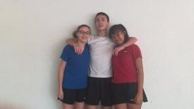 N°3 : les juniors, fiers d'être en bleu, blanc, rouge, de différentes origines mais représentant tous le club!