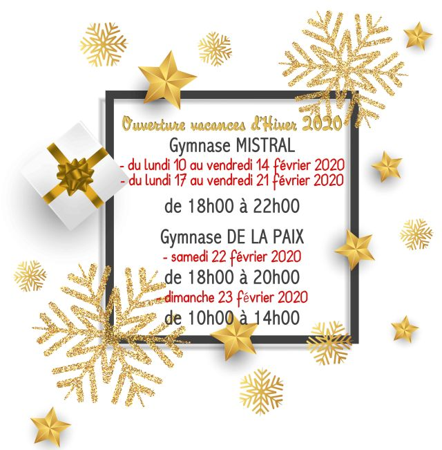 Christmas background with glitter snowflakes, gift and stars